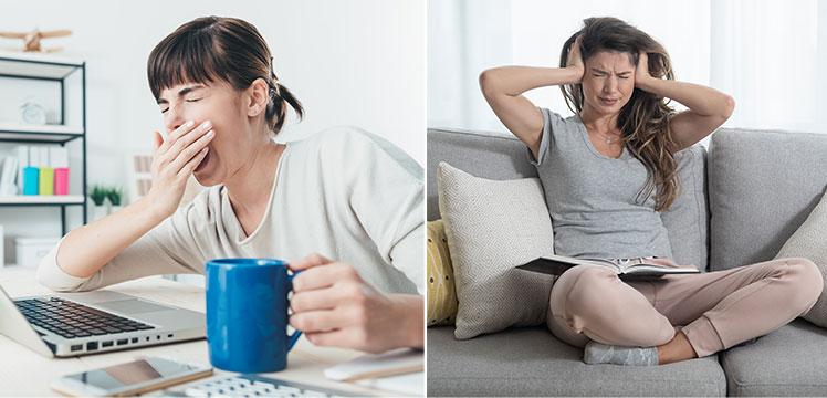 Problems with home study ergonomics