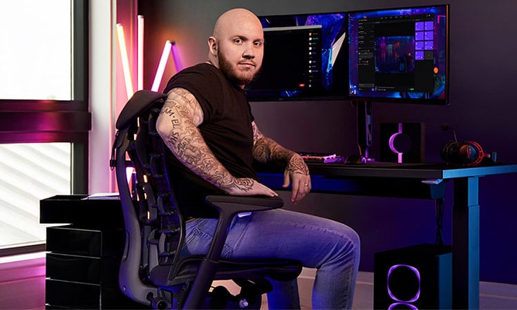 TimtheTatman Herman Miller partnership