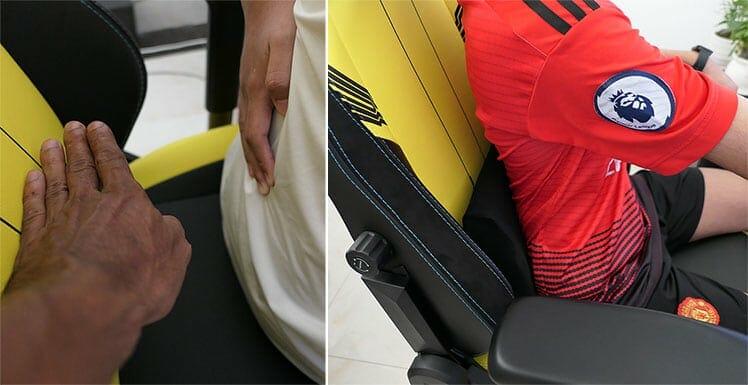 Titan lumbar support for short people