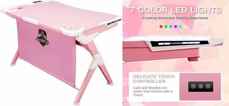 Autofull Pink gaming desk