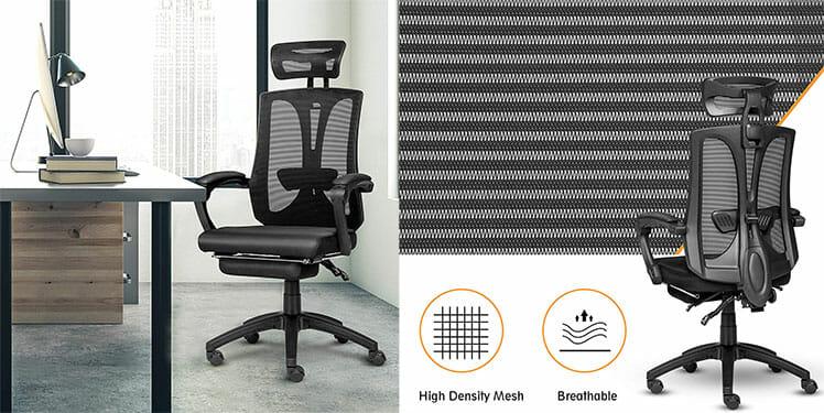 Elecwish ergonomic office chair mesh fabric
