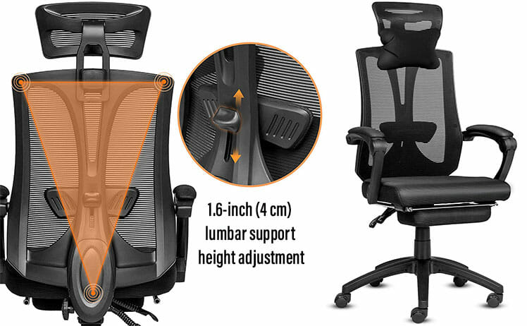 Elecwish mesh backed office chair