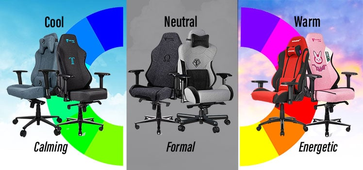 Fabric gaming chair color theory
