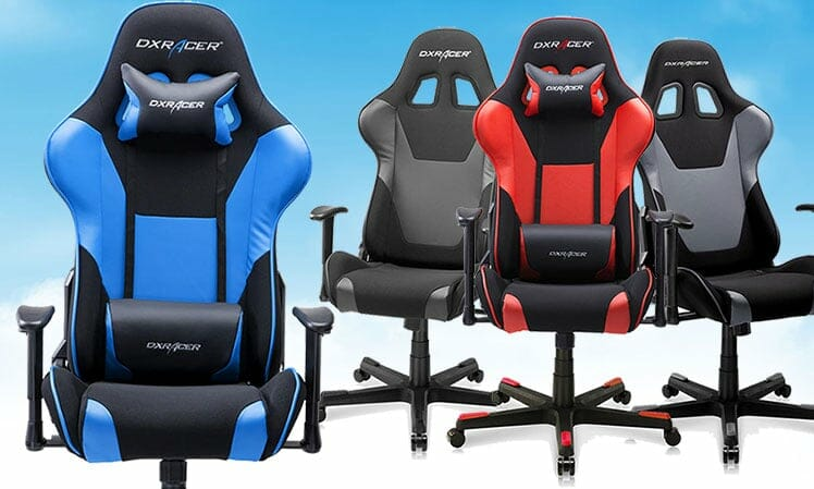 DXRacer Formula Series leather and fabric combination gaming chair