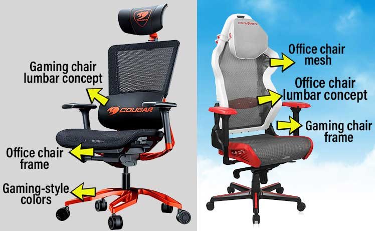 Hybrid Gaming Chair Design Concepts