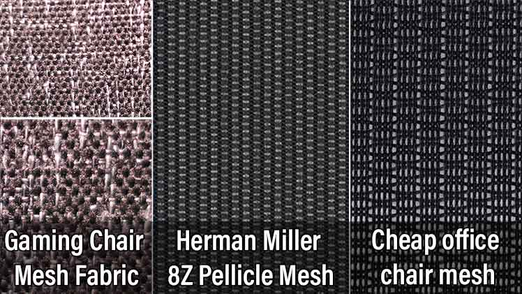 Gaming chair mesh upholstery comparisons