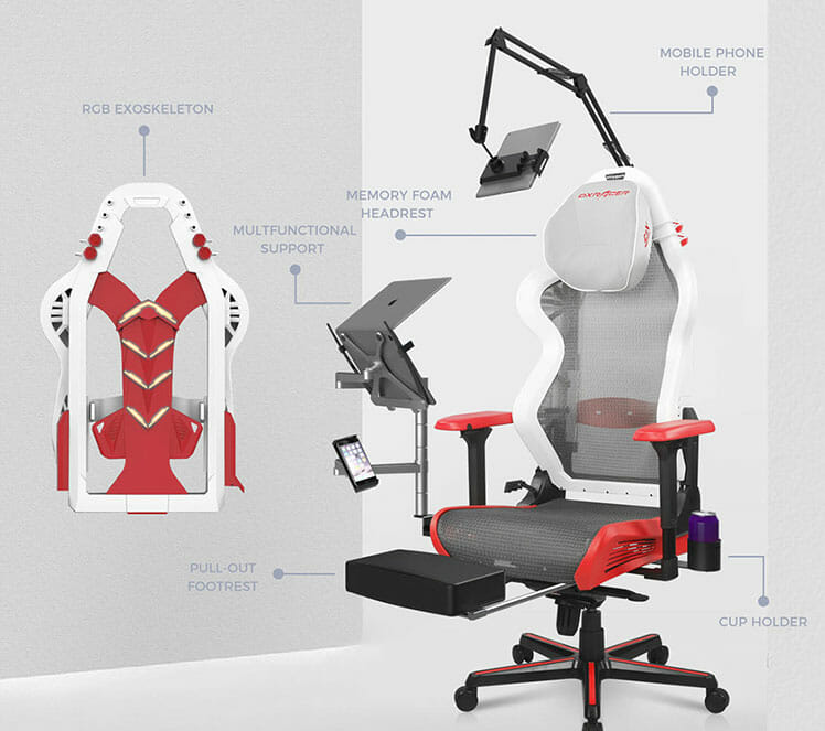 DXRacer Air gaming office hybrid