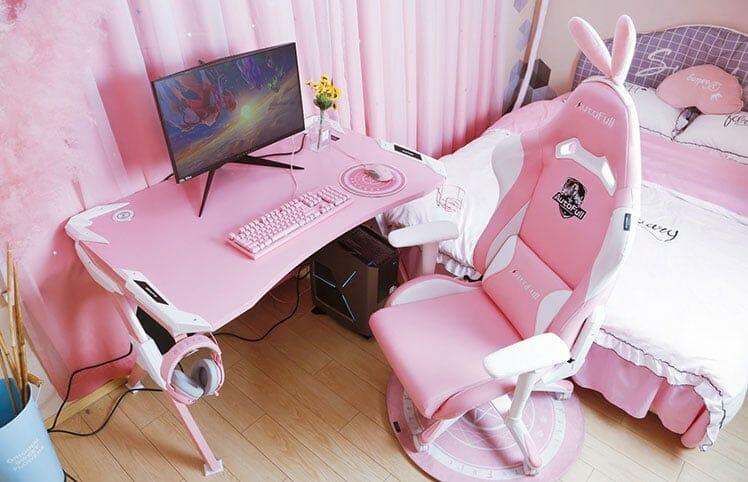 Pink Bunny bedroom chair