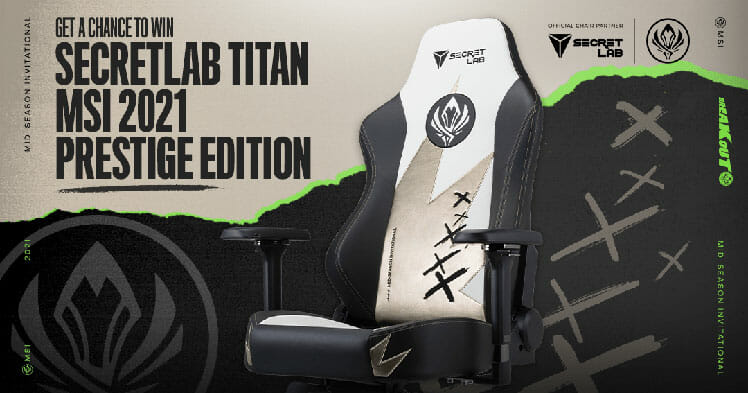 MSI 2021 Prestige Edition gaming chair