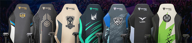 Secretlab chairs for RIot Games esports tournaments
