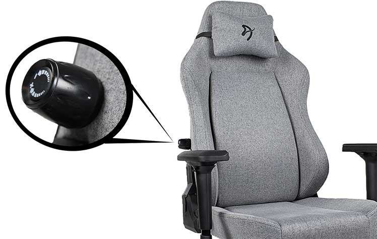 Arozzi Primo integrated lumbar support system