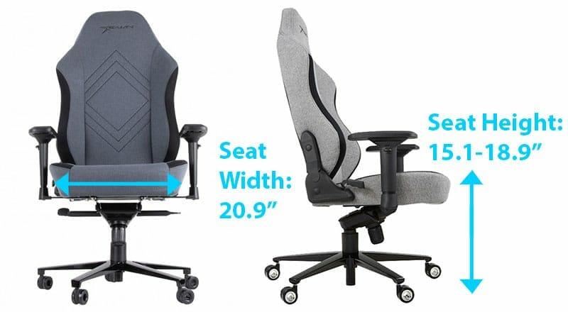 E-WIn CPG chair dimensions