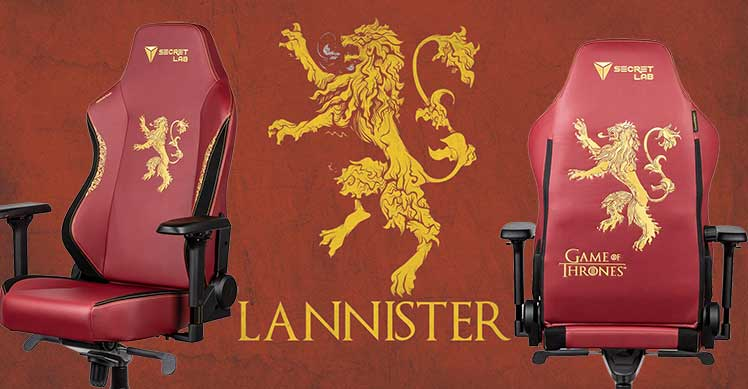 Secretlab House Lannister gaming chairs