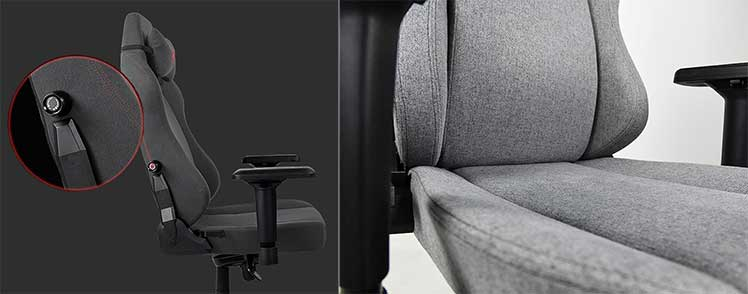 Primo fabric gaming chair features