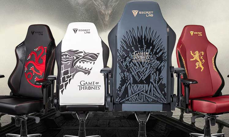 Secretlab Game of Thrones gaming chairs