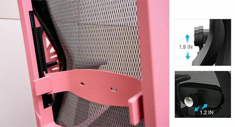 DXRacer Air lumbar support vs office chair