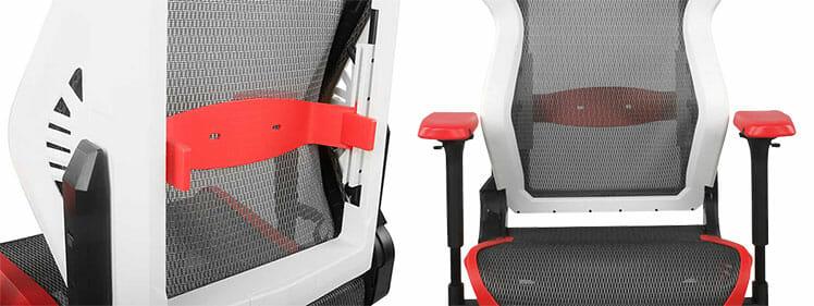 DXRacer Air lumbar support close view