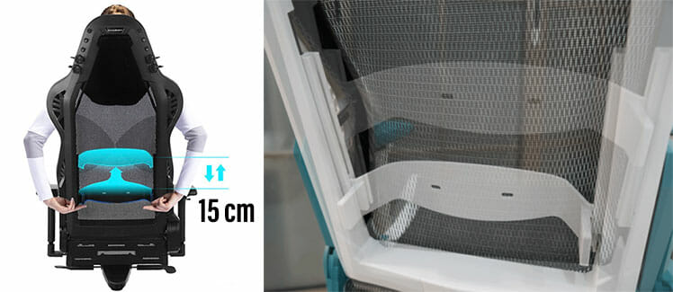 DXRacer Air lumbar support