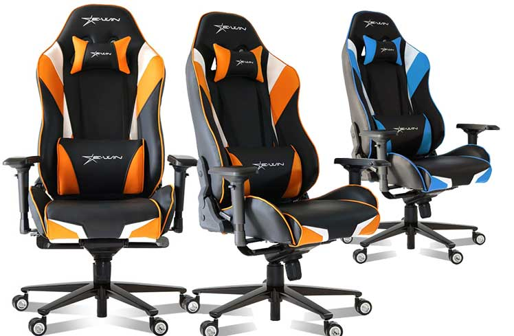 E-Win racing-style gaming chairs