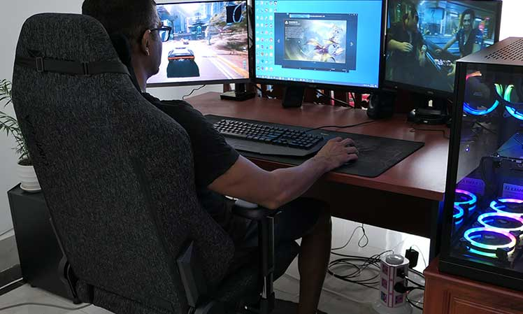Using a fabric gaming chair for work