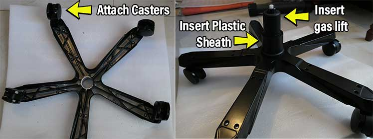 DXRacer Master base assembly