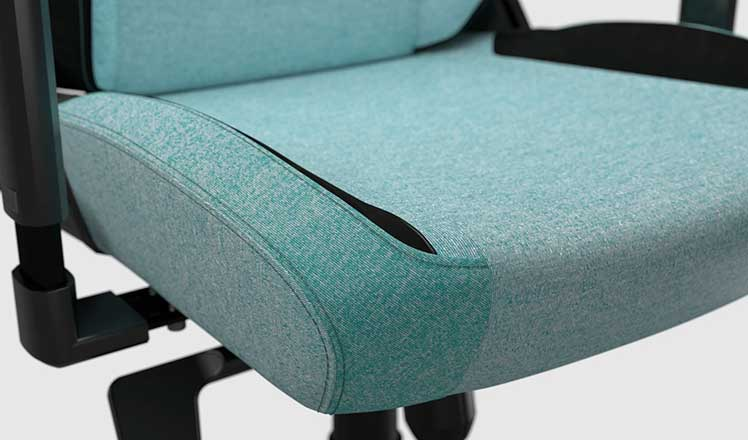 SoftWeave Fabric Mint Green gaming chair seat