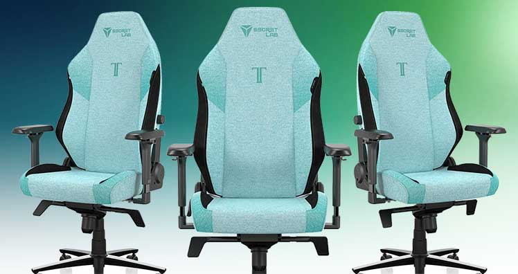SoftWeave Fabric Mint Green gaming chair