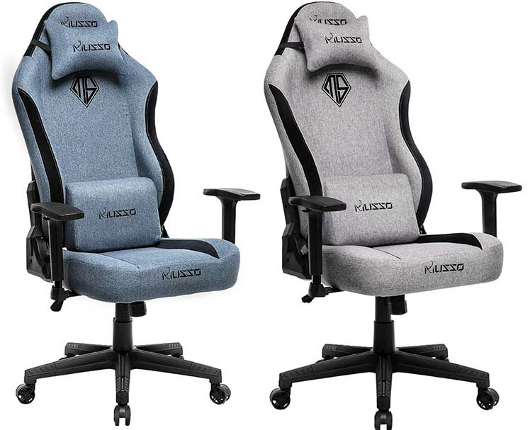 Musso big and tall fabric gaming chairs