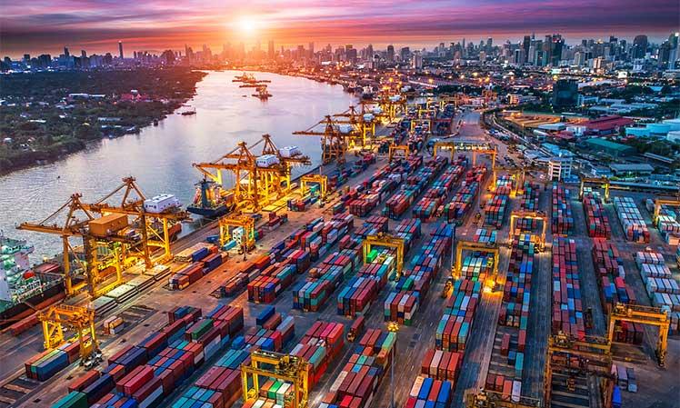 Shanghai shipping port