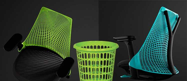 Sayle chair plastic backrest aesthetics
