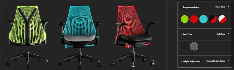 Sayle gaming chair design options