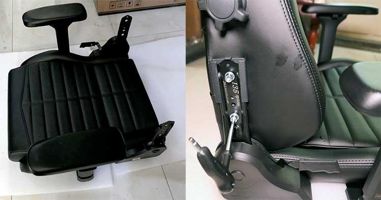 DXRacer Master attach seat to backrest
