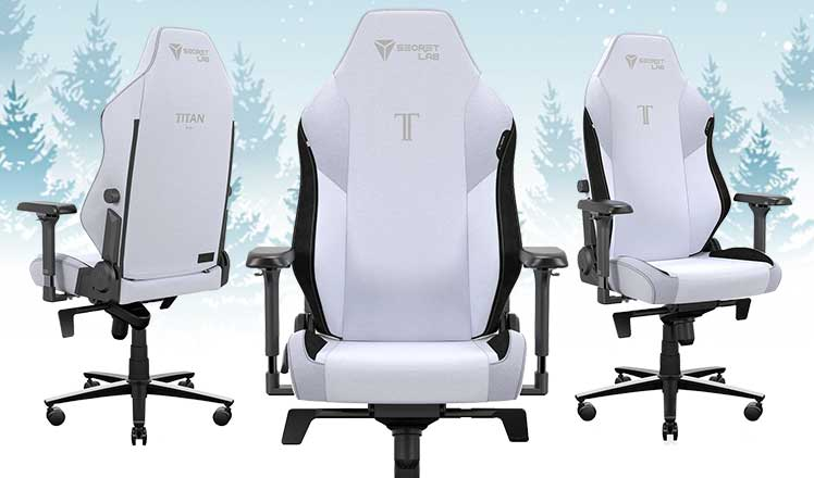 SoftWeave Plus Arctice White gaming chair