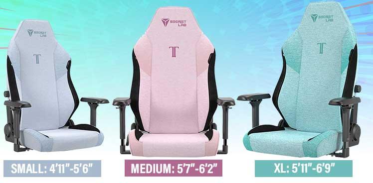 Secretlab SoftWeave gaming chair sizes