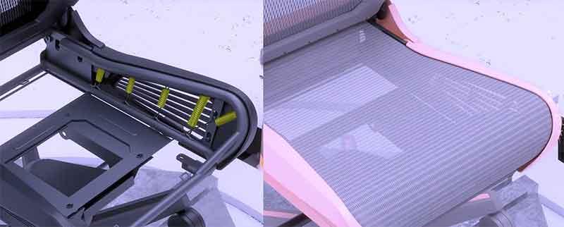 DXRacer Air spring suspension system