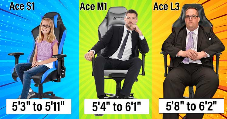 GTRacing Ace sizing chairt