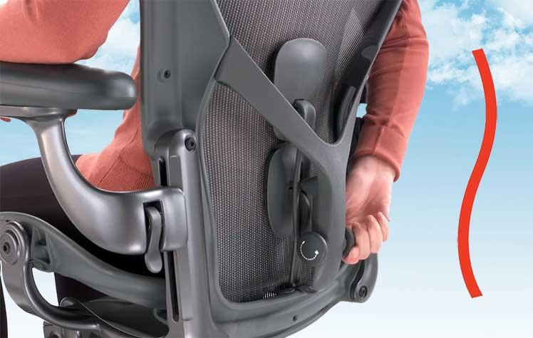 Aeron Posturefit lumbar support