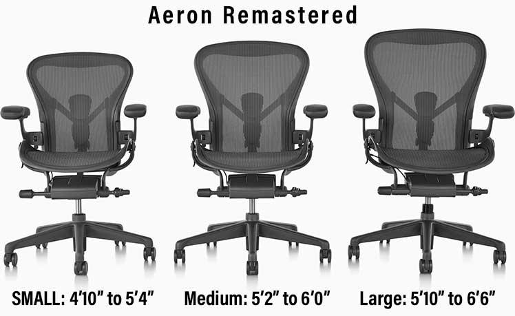 Herman Miller Aeron Remastered chair sizes