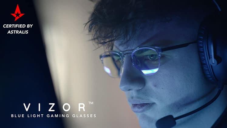 Blux VIZOR blue light gaming glasses