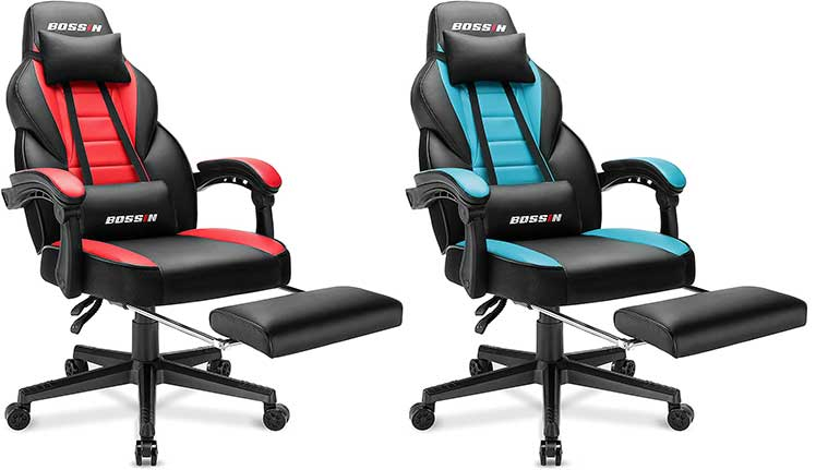 Bossin Gaming Chair With Footrest