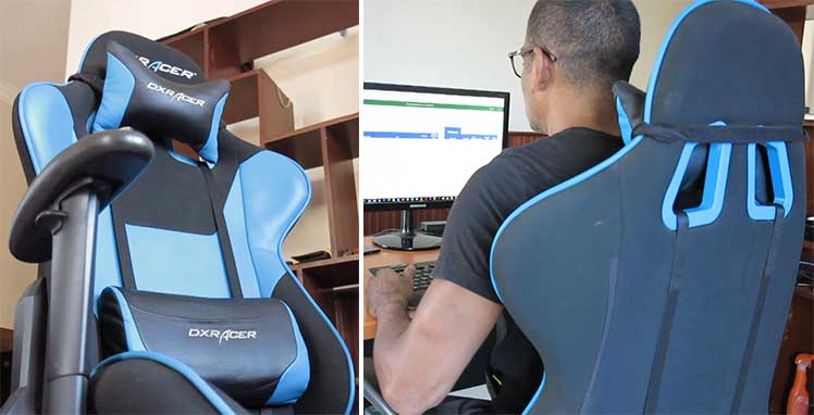 ChairsFX testing a gaming chair