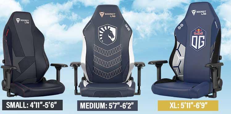 Secretlab esports chair sizing