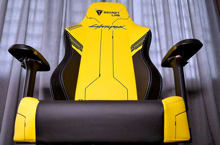 Cyberpunk gaming chair front view