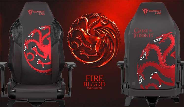 Game of Thrones House Targaryen gaming chair