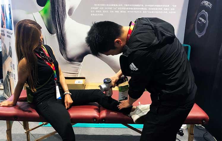 Handheld Hyperice massage unit