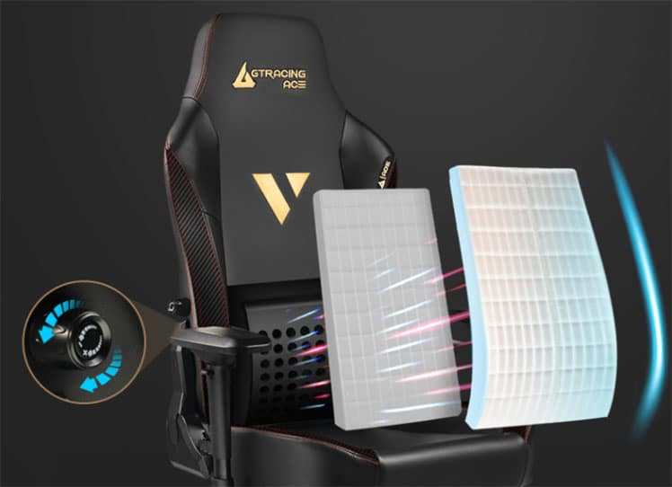 Ace chair integrated lumbar support