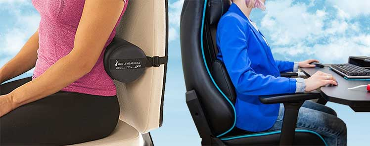 Gaming chair lumbar pillow placement
