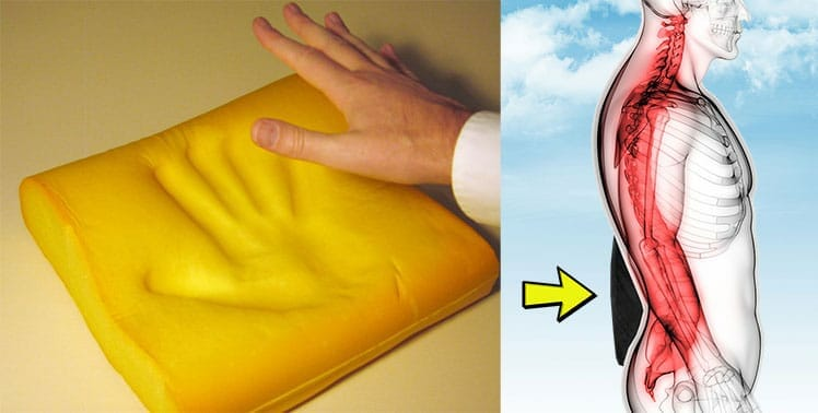 Memory foam lumbar pillow