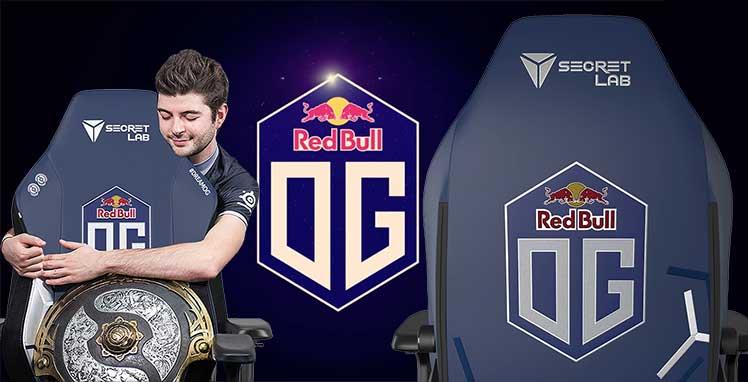 Team OG Red Bull gaming chairs