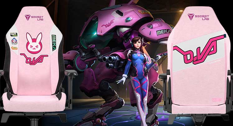 Overwatch Pink D.va chair